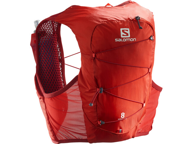 Salomon Active Skin 8 Rugzak Set, valiant poppy/red dahlia